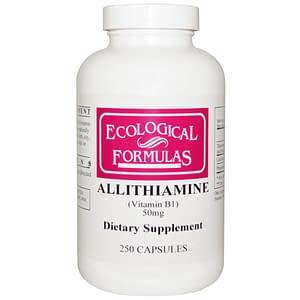 Allithiamine (Vitamin B1) 50 mg 250 caps - Ecological Formulas