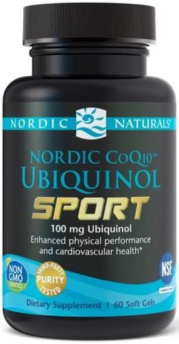 CoQ10 Ubiquinol Sport 100mg -60 softgels - Nordic Naturals