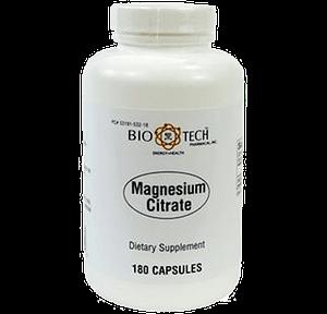 Magnesium Citrate (180 caps) - BioTech