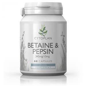 Betaine & Pepsin 60 Capsules - Cytoplan