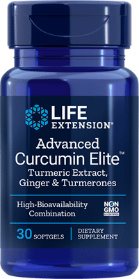 "Advanced Curcumin Eliteâ""¢ Turmeric Extract, Ginger & Turmerones - 30 softgels - Life Extension"