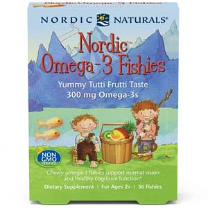 Omega-3 Fishies, Tutti Frutti, 36 Gummies - Nordic Naturals - SOI*